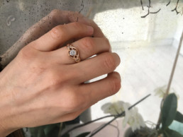 Verlobungsring Vintage Rosegold Diamant